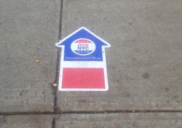 Voter Sidewalk Sticker, MIdwood High School