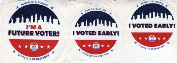 I Voted Stickers, NYC, November 2019